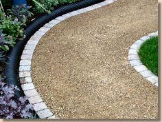 gravel path in garden
