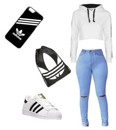 """Soccer Mom"" by shavon-gee on Polyvore featuring Topshop and adidas"