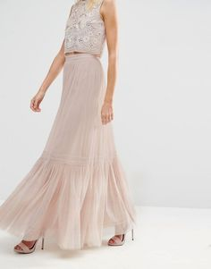 Image 4 of Needle & Thread Lace Tulle Maxi Skirt