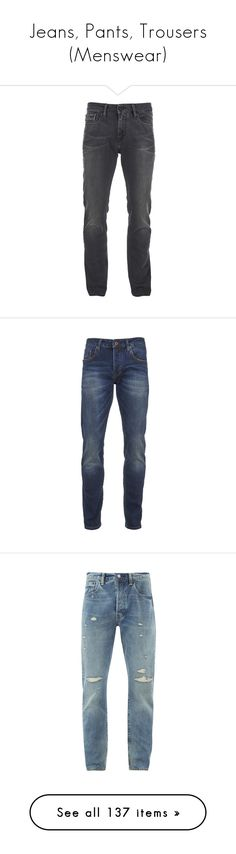 """Jeans, Pants, Trousers (Menswear)"" by giovanna1995 ❤ liked on Polyvore featuring men's fashion, men's clothing, men's jeans, pants, jeans, men, men's pants, black, calvin klein mens jeans and mens slim jeans"