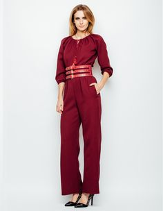 Salopeta visinie cu influente traditionale Boho Chic, Jumpsuit, Casual, Dresses, Fashion, Overalls, Vestidos, Moda, Monkeys