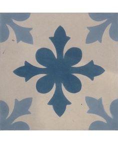 Snowflake Encaustic Cement Tiles by Terrazzo Tiles¦ Shop Online: http://www.terrazzo-tiles.co.uk/snowflake-encaustic-cement-tile.html #encaustictiles #cementtiles #hydraulictiles #Snowflake #floralpattern #bathroomtiles #blue #terrazzotiles @TerrazzoTiles