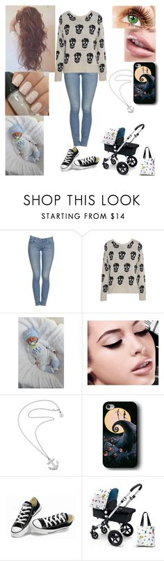 """""""Untitled #36"""" by bubba-imagirl ❤ liked on Polyvore featuring AX Paris, Maybelline, Karen Walker, Converse and Mamas & Papas"""