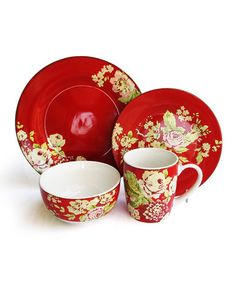 Take a look at this Paprika Tea Dance Dinnerware Set by Jay Import on #zulily today!
