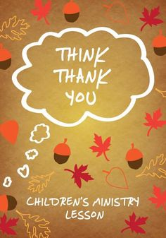 Thanksgiving Children's Ministry Lesson - Think Thank You – Children's Ministry Deals