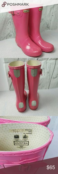HUNTER kids pink boots size 4 Females On good pre owned condition Hunter Boots Shoes Rain & Snow Boots