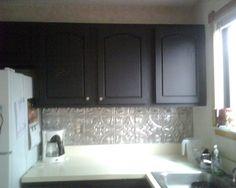 tin ceiling tiles backsplash