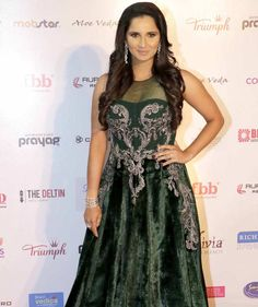 Indian Tennis ace Sania Mirza at the Femina Miss India 2016 finale. #Page3 #Fashion #Style #Beauty #Hot #Sexy