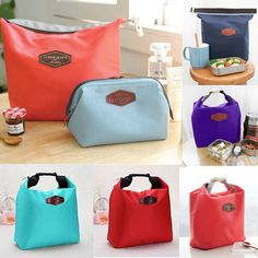 2017 Fashion Portable Insulated Nylon lunch Bag Thermal Food Picnic Lunch Bags for Women kids Men Cooler Lunch Box Bag Tote #Affiliate