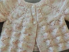 Knitting Machine Patterns, Knitting Patterns, Knitting For Kids, Baby Knitting, Cardigan Bebe, Baby Cardigan Knitting Pattern, Crochet Butterfly, Bebe Baby, Baby Vest