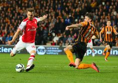 One goal, one assist by Aaron Ramsey. Hull City 1-3 Arsenal (May 2015)