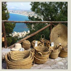 Sicily wicker baskets