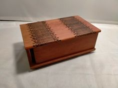 Hand Carved Trick Lock Novelty Wood Box (WC2003)   eBay Wood Rounds, Wooden Hand, Novelty Gifts, Wood Boxes, Trinket Boxes, Wood Crafts, Hand Carved, Decorative Boxes, Carving
