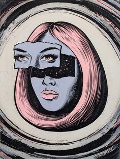 Illustration by Australian artist Andrew Fairclough Art Sketches, Art Drawings, Arte Alien, Posca Art, Illustration Art, Illustrations, Hippie Art, Dope Art, Psychedelic Art