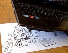 Laptop Repair #Computer, #Draw, #Drawing, #Funny