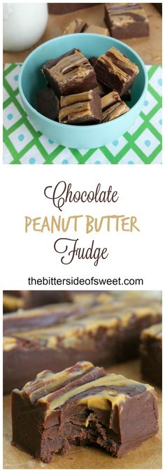 Chocolate Peanut Butter Fudge - theBitterSideofSweet