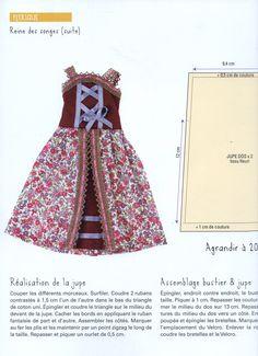 Vêtements de poupées, livre couture Frou-Frou aux éditions Marie Claire