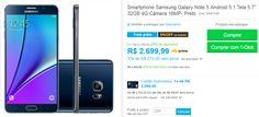"Samsung Galaxy Note 5 Android 5.1 Tela 5.7"" 32GB 4G Câmera 16MP << R$ 209900 >>"