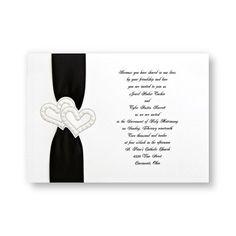 Brilliant Hearts Wedding Invitations by TheAmericanWedding.com