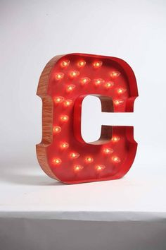 LIGHTED CAROUSEL LETTER C - Design Legacy - $220.00 I really want to find a large letter 'd' for Doyle