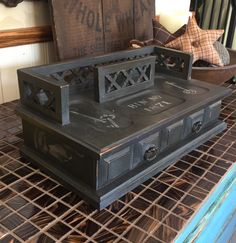 A personal favorite from my Etsy shop https://www.etsy.com/listing/235120963/vintage-upcycled-mens-butler-box-hand