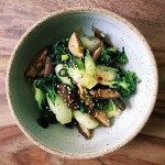 Stir-Fry Shiitake Mushrooms Baby Bok Choy | IHeartUmami.com