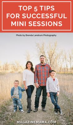 Mini sessions are a great way to get new clients, build your portfolio and grow your photography business.  Here are 5 must do tips you'll want to read to prepare for your next mini session shoot. http://www.magazinemama.com/blogs/editors-blog/35631364-5-must-dos-for-a-successful-mini-session-event