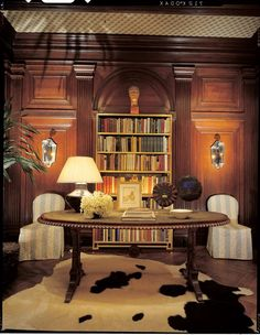 The Peak of Chic® :Albert Hadley room in 40 Years of Fabulous: The Kips Bay Decorator Show House Albert Hadley, Ladder Bookcase, Bookcases, Brown Eyed Girls, Tuscan Decorating, Interior Inspiration, Writing Inspiration, 40 Years, Interior Design