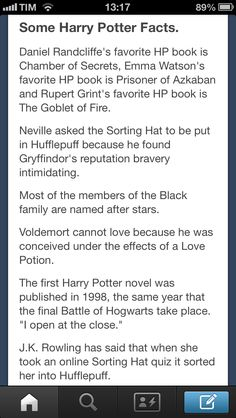 Yay, me and Emma Watson have the same fave HP book! And very clever of JK Rowling to think some of these details out, this is why she's one of my favorite authors. And best of all, she's a fellow Hufflepuff, since I was sorted into Hufflepuff via Pottermore. So, yeah, all this makes me happy.