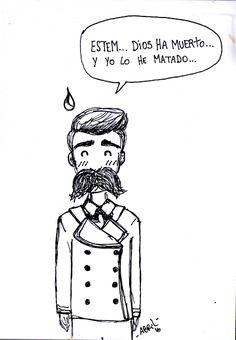 Otoño AbrilianoHistorietas en castellano dibujo drawing comic Nietzsche