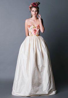 Floral wedding dress by Jennifer Gifford Designs