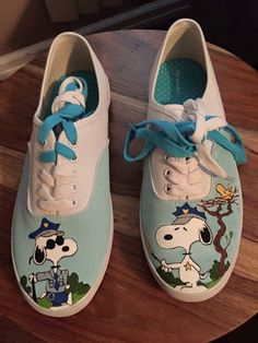 CollectPeanuts.com on Facebook - Stop! In the name of Snoopy Love! Barbara shares her custom painted shoes by Anne. Check out Anne's Etsy shop here: http://etsy.me/2bQOO4c  D.I.Y. Snoopy! Post photos of your Peanuts craft projects on the CollectPeanuts.com Facebook wall.