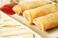 Diabetic Recipes: Baked Chicken and Vegetable Egg Roll Recipe Diabetic Recipes, Low Carb Recipes, Real Food Recipes, Diabetic Cookbook, Diabetic Foods, Egg Roll Recipes, Greek Recipes, Healthy Vegetables, Chicken And Vegetables