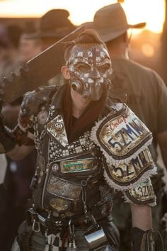 """M: """"Grinder Group: just another one of the boys: steampunk costume Apocalypse Armor, Apocalypse Costume, Apocalypse Fashion, Apocalypse World, Post Apocalyptic Clothing, Post Apocalyptic Costume, Post Apocalyptic Art, Post Apocalyptic Fashion, Mad Max"""