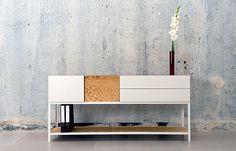 """""""Sideboard"""", steelframe with added modular units, photo © Neue Tische"""
