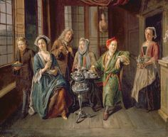 A Tea Party, c.1720 (oil on canvas)