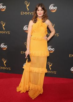 Mandy Moore brightens up the Emmys 2016 with a yellow Prabal Gurug gown -- see some the best red carpet styles from the Emmys 2016!
