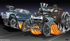 Nitro Gasser Drag Race by ~Britt8m on deviantART
