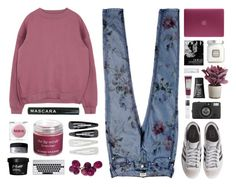 """""""Floral Jeans"""" by amazing-abby ❤ liked on Polyvore featuring Tommy Hilfiger, Forever 21, Sara Happ, Rodin Olio Lusso, MAC Cosmetics, Incase, Torre & Tagus, adidas Originals, Lomography and Laura Mercier"""