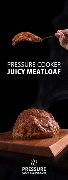 Make Juicy Pressure Cooker Meatloaf Recipe (Instant Pot Meatloaf) in homemade umami tomato sauce. Satisfying mouthful of smoky