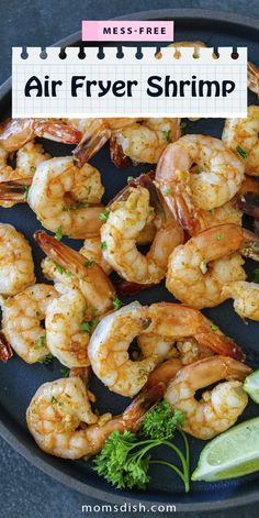 Air fryer shrimp are super easy to make and taste incredible. These protein morsels can be added to salads or enjoy as a side to any dinner. These air fryer shrimp are super easy and quick to make, perfect for weekdays when you need a quick and easy meal. #easydinnerrecipes #airfryerrecipes #airfryershrimp #lunchrecipes #dinnerrecipes #shrimprecipes Shrimp Recipes, Best Seafood Recipes, Air Fryer Recipes, Lunch Recipes, Easy Dinner Recipes, Lemon Cream Cheese Bars, Easy Meals, Healthy Food, Healthy Recipes