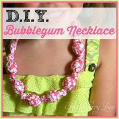 DIY Bubblegum Necklace {Tutorial}- An easy jewelry idea for little girls and grown ups alike!