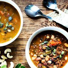 Italian Bean Soup  #vegansoup #bluezonefood #healthyfood #veganfood #cookingwithbeans #whatveganseat #vegansofig