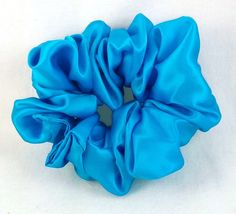Turquoise Silk Charmeuse Scrunchy -- Check out this great product.