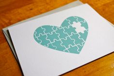 handmade card ... Missing Puzzle Piece - Heart Card ...