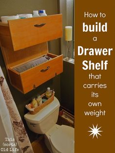 How to make wall shelf from drawers/step-by-step