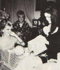 Priscilla's baby shower with Nancy Sinatra