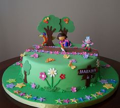Dora cake-I love the look of this one :) nice and simple with clean lines