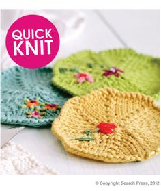 Knitted Coasters Knit Along  free pattern - would love to sew together for blanket