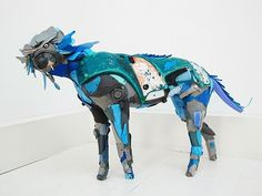 Animal Sculptures Made from Ocean Debris by Gilles Cenazandotti #Art, #Sculpture, #Sea, #Trash